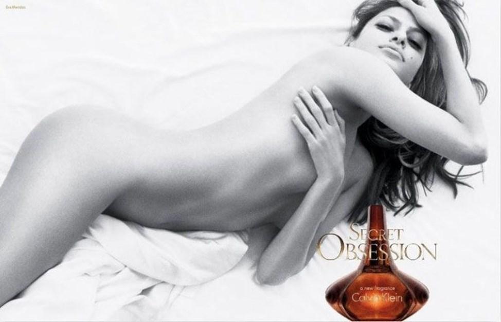 Eva Mendes, para a Calvin Klein (2008)