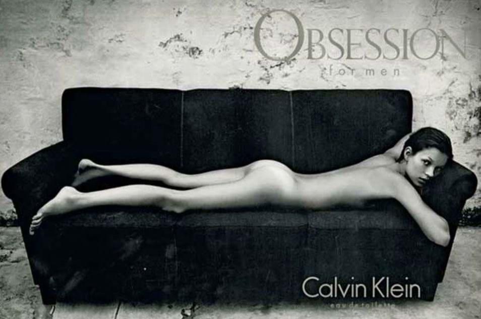 Kate Moss, para a Calvin Klein (1993)