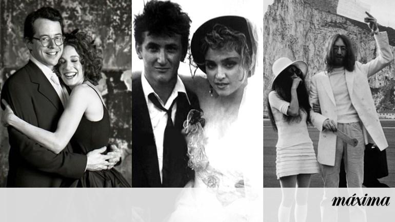 3a2d5e78a7b Os 30 vestidos de noiva mais originais das celebridades - Tendências -  Máxima