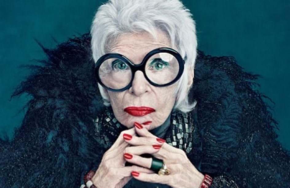 Aos 97 anos, Iris Apfel assina com uma das maiores agências de modelos do mundo