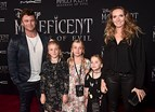 Luke, Ella, Holly, Harper Rose e Samantha Hemsworth