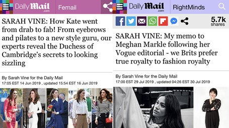 Team Kate vs Team Meghan: 20 manchetes que comparam as duquesas de Cambridge e Sussex