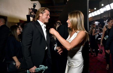 O encontro entre Brad Pitt e Jennifer Aniston nos SAG Awards