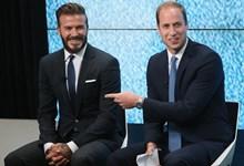 Príncipe William e David Beckham discutem importância da saúde mental no futebol