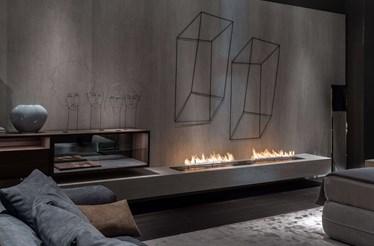 Tendência: uma lareira que é uma autêntica obra de arte