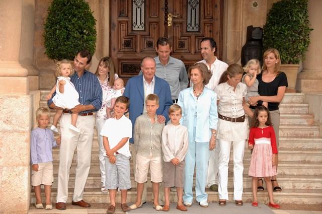 A família real espanhola em Maiorca, 2007