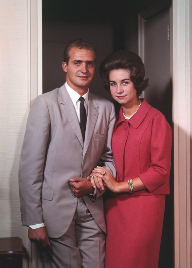 Rei Juan Carlos e a rainha Sophia, 1962